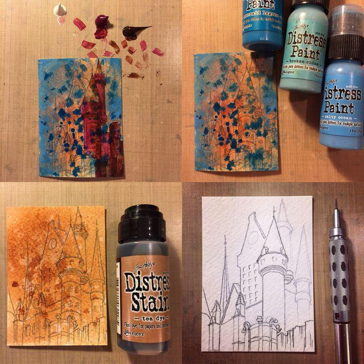 Artistbooks Ideas: Studio Ginart: Work In Progress Shots Of Castle Artist