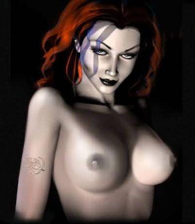 3d vampire girl