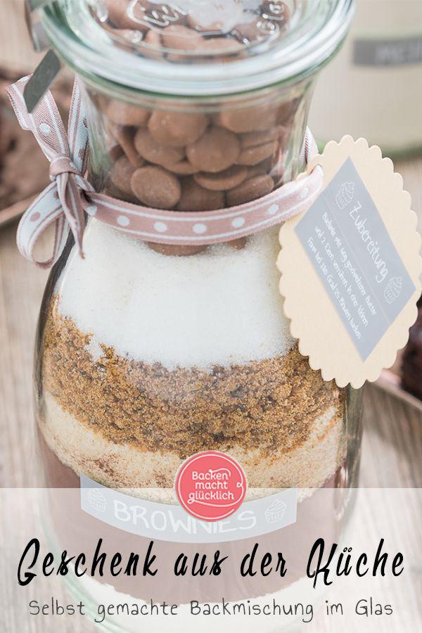 Backmischung Im Glas Fur Brownies Rezept Brownie Backmischung Backmischung Im Glas Und Backmischung