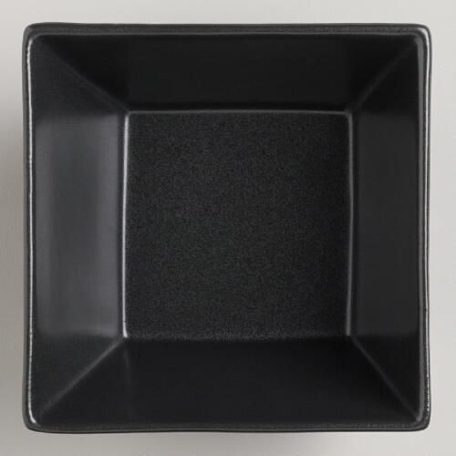 One of my favorite discoveries at WorldMarket.com: Black Trilogy Square Dishes, Set of 6