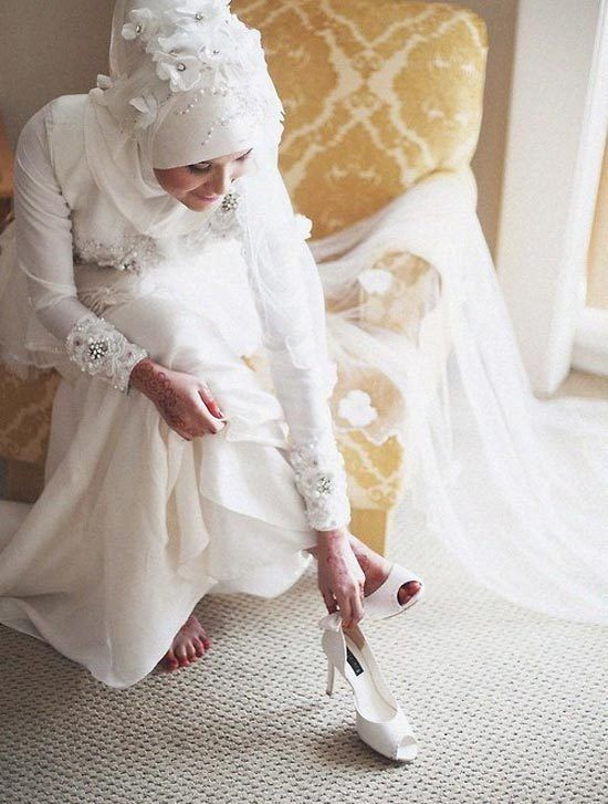 Hijab Wedding Dresses-30 Latest Hijab Wedding Styles This Season