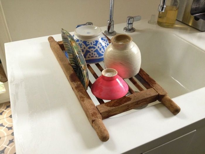There are plenty of dish drying racks on the market, and just about all do the trick. But it took a long search to find the few that qualify as attractive enough to leave out on the counter.