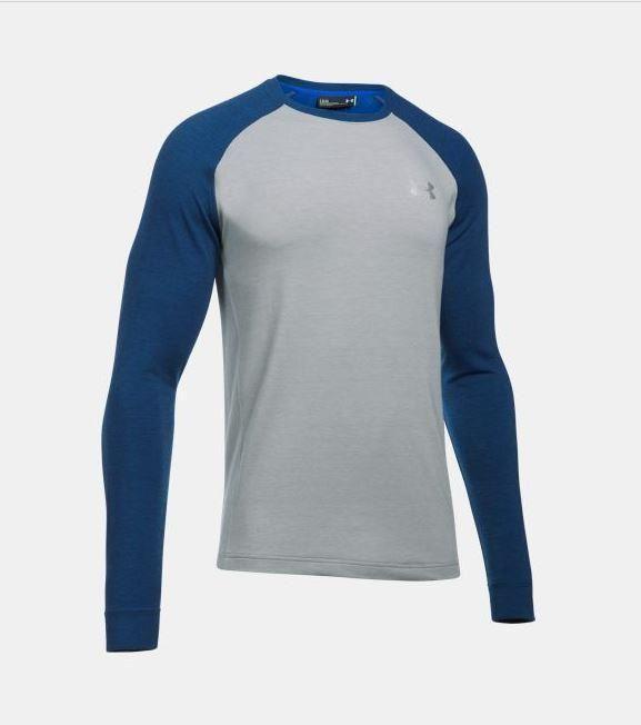 Mens Under Armour Top UA Tech Long Sleeve HeatGear Shirt Black Blue S M L XL