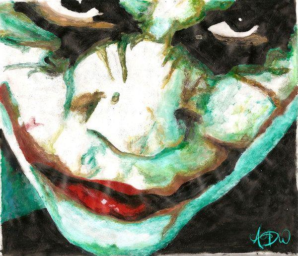 The Joker Acrylic Painting By Dizzywater Deviantart Com On