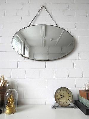 Vintage-Oval-Bevelled-Edge-Wall-Mirror-Art-Deco-Bevel-Edge-Mirror