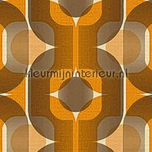 Retro oranje-bruin behang 95528-1, Danke van AS Creation