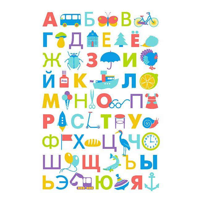 Детский постер алфавит