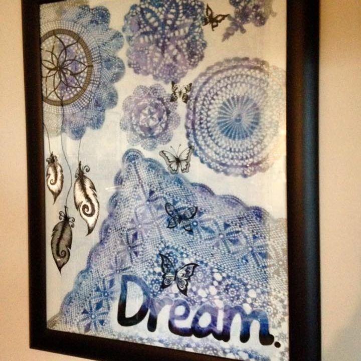 Mandala painting, dream catcher