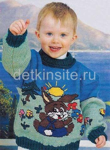 Вязание на спицах кофты для детей на 5 лет