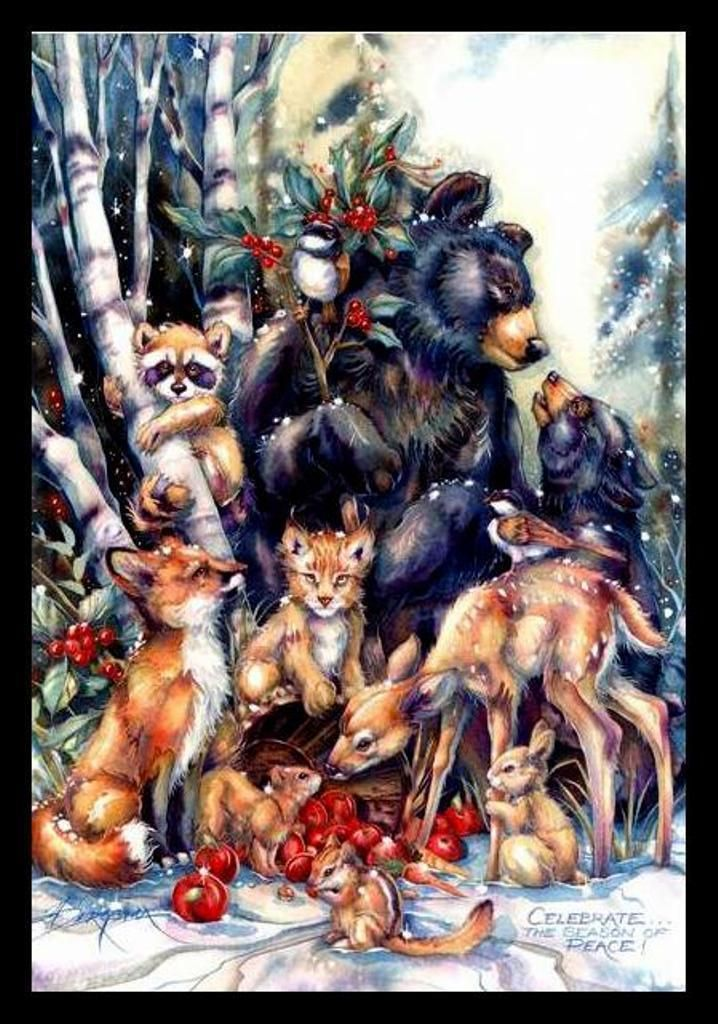 Leanin Tree Christmas Cards Animals