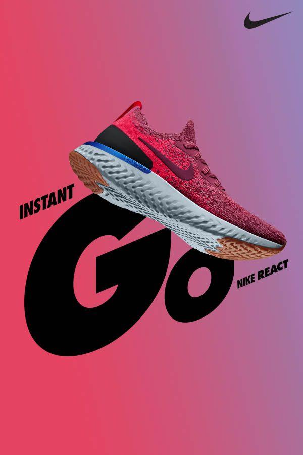 b5f0b0fe7e5b GO GET  EM. Introducing Nike Epic React s new summer colors. Shop them now  on Nike.com.