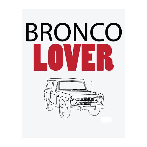 Black and White Linear Classic Bronco Lover by GreenBomb on Etsy, $20.00