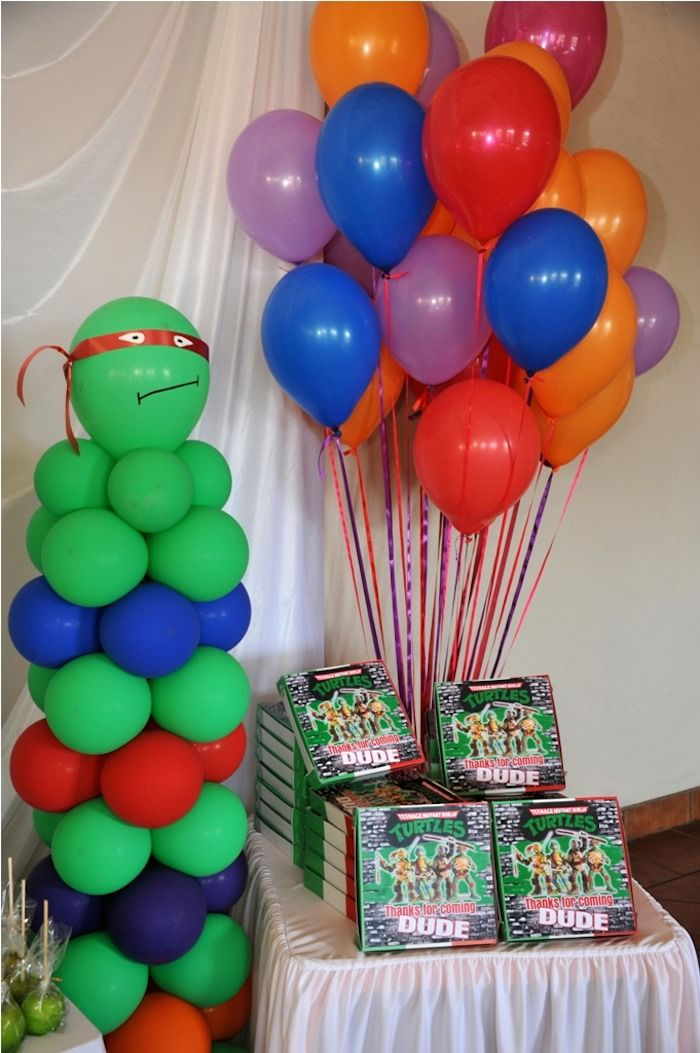 Ninja Turtle themed birthday party via Kara's Party Ideas KarasPartyIdeas.com Printables, cake, invitation, cupcakes, games, and more! #TMNT #ninjaturtles (11)