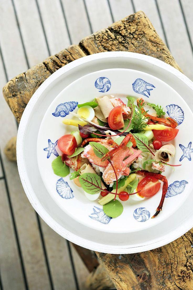 Salade van kreeft  http://www.njam.tv/recepten/salade-van-kreeft