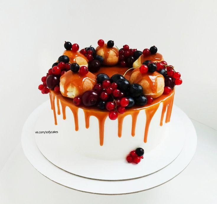 Украшение тортов кремом,шоколадом, фруктами - Кондитерская - сообщество на…