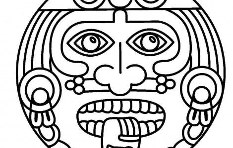 Ancient Mayan Coloring Pages also Aztec Sun Coloring Page moreover ...