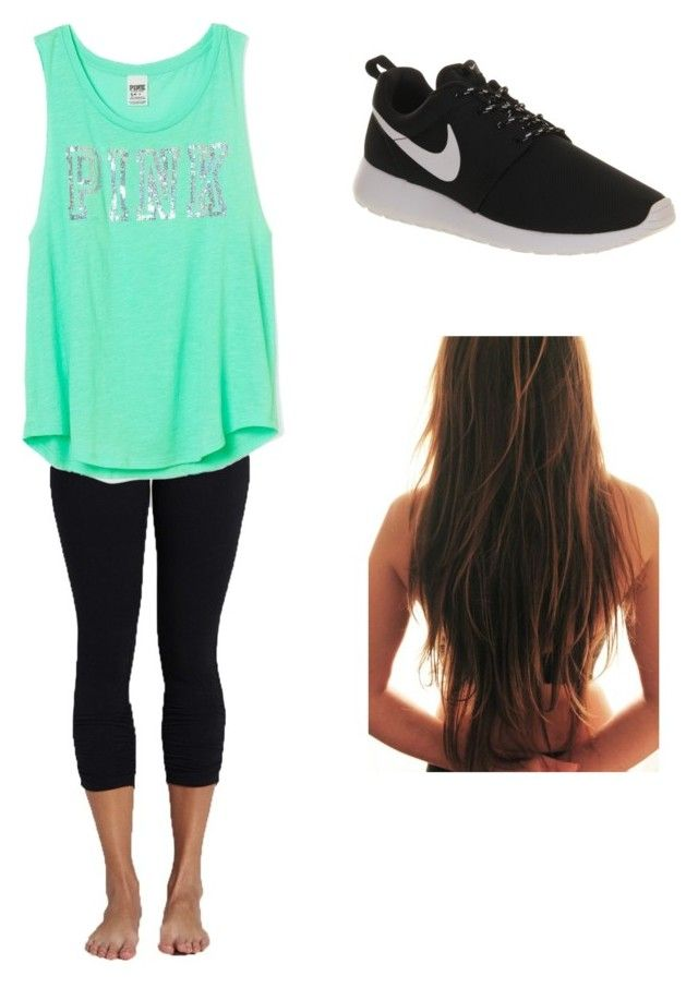 Finals by jasminedb on Polyvore featuring Victoria's Secret PINK, Beyond Yoga and NIKE