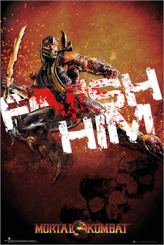 "Poster von ""Mortal Kombat - Finish Him"""