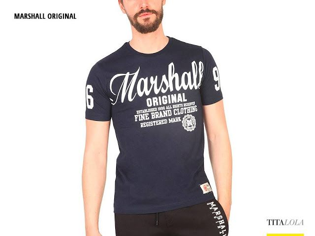 T-shirt uomo MARSHALL ORIGINAL TS_COOLY Blu