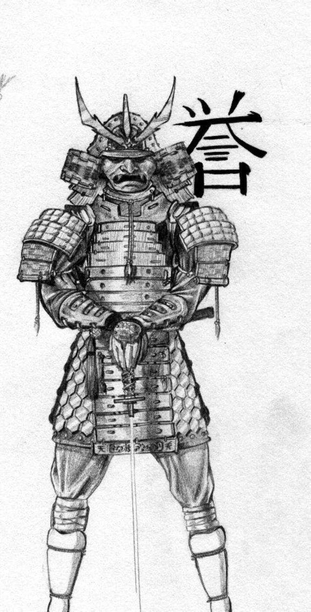 самурай арты карандашом стиль съемки