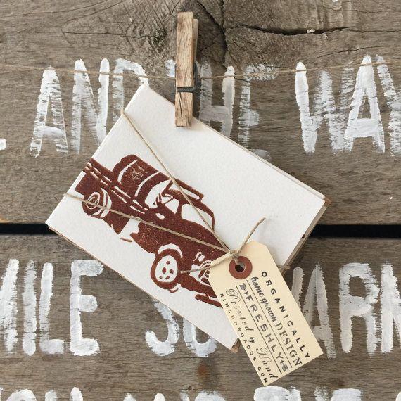 Set of 8 - Ota Truck Blank Cards