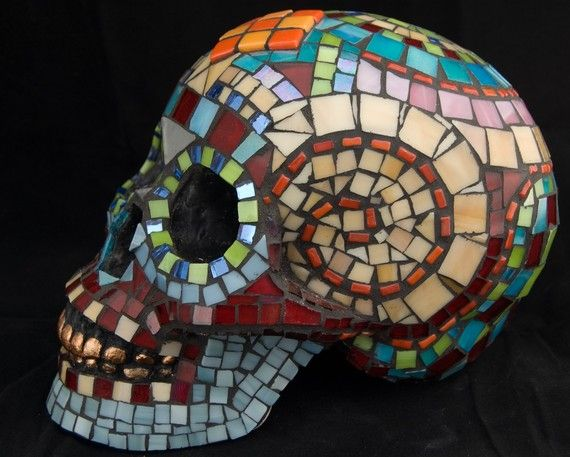 19 Best Mosaic Painted Cow Skulls Images On Pinterest