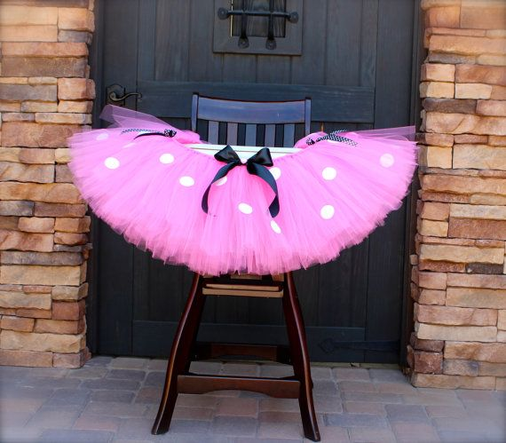 Minnie Mouse High Chair Tutu Pink Minnie Mouse by PiaMiaBoutique, $45.00