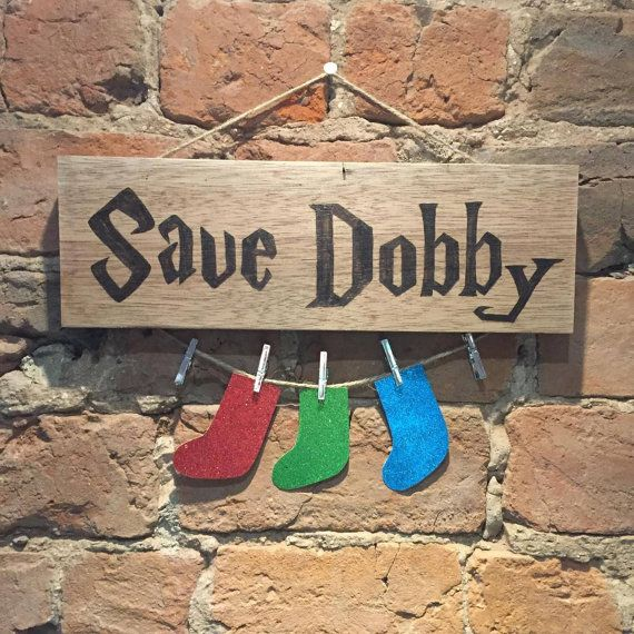 Gorgeous hand crafted Save Dobby odd sock collector This collector is intended to be wall mounted to keep hold of all your odd socks until the matching sock appears, as if by magic. Each item is made from recycled wood so the shape and size may vary slightly They hang with a simple string attachment so can be placed anywhere you like for that extra magic touch to your home! This is the perfect gift for any Harry Potter fan or housewarming present! This item can also be personalised, you can…