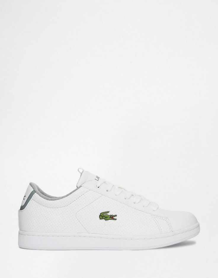 Shop Lacoste Carnaby EVO CLS Perforated Leather Trainer at ASOS.