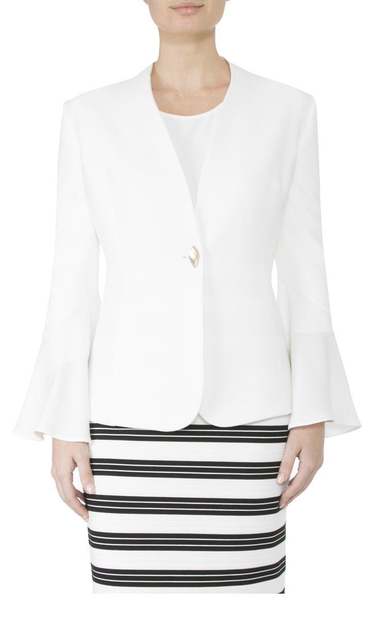 Women's Workwear  | Ivory Crepe Jacket