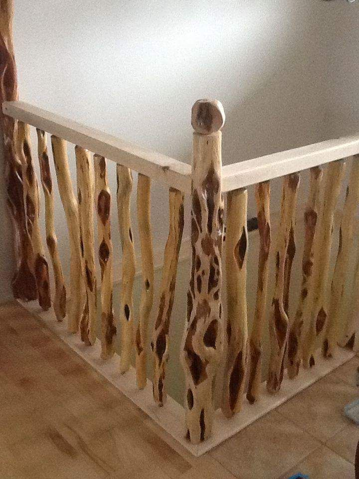Best Pin By Driftwood Interiors On Art Rustic Stairs Willow 400 x 300