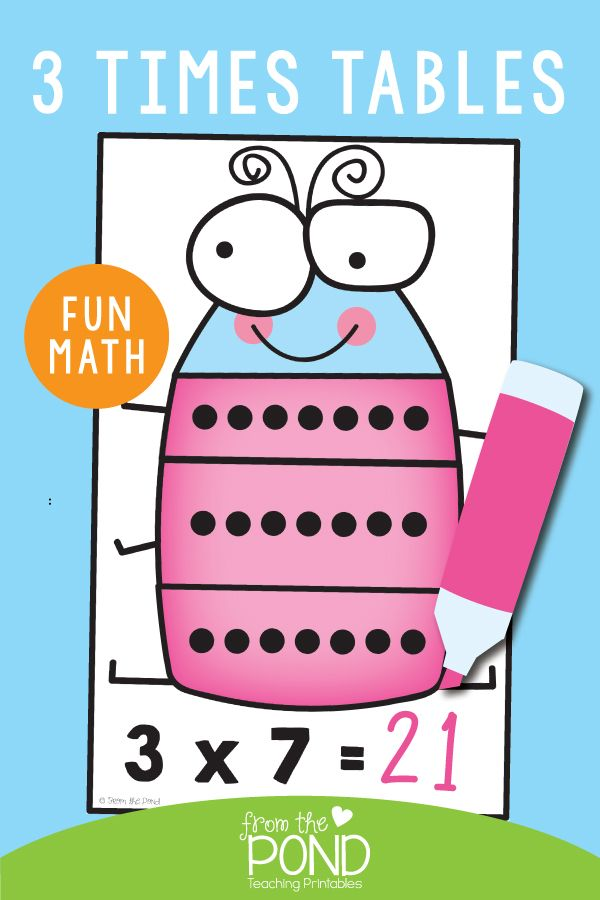3 Times Tables Multiplication Activities Multiplication