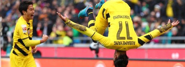 Aubameyang und Kagawa schießen BVB zum 2:0 gegen Frankfurt - Treffsicheres Duo: Shinji Kagawa und Pierre-Emerick Aubameyang schossen den BVB gegen Frankfurt mit 2:0 in Führung.Foto: Imago  Aubameyang und Kagawa schießen BVB zum 2:0 gegen Frankfurt - | WAZ.de - Lesen Sie mehr auf: http://www.derwesten.de/sport/fussball/bvb/bvb-startet-mit-langerak-gegen-frankfurt-reus-auf-der-bank-id10604473.html