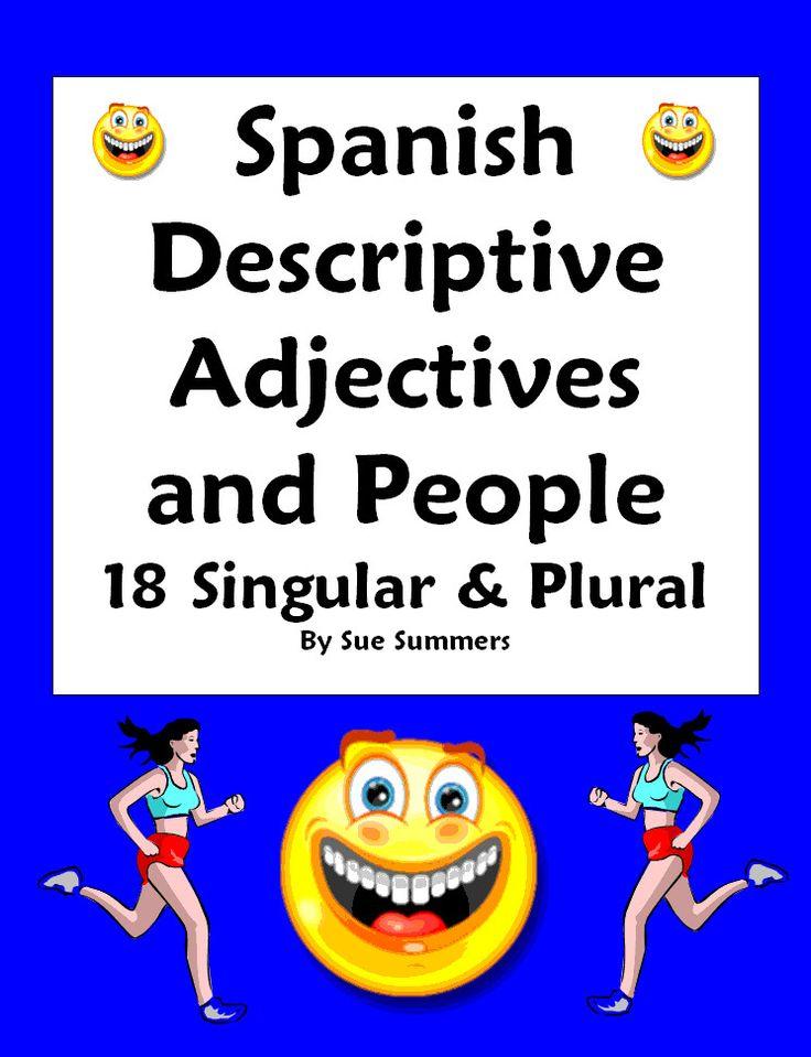 Spanish Adjectives & People Worksheet Number & Gender