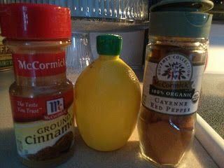 Metabolism Boosting Detox Tea – hot water, lemon, cinnamon, cayenne pepper.  (ma…