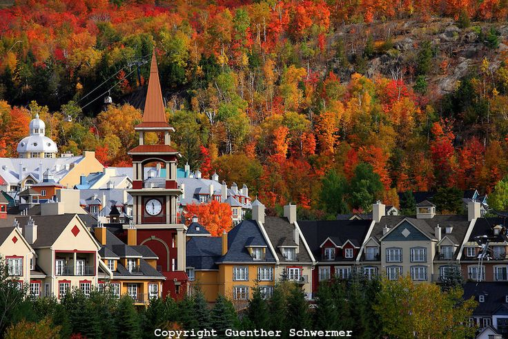 Indian Summer,Mont Tremblant, Quebec,Canada,