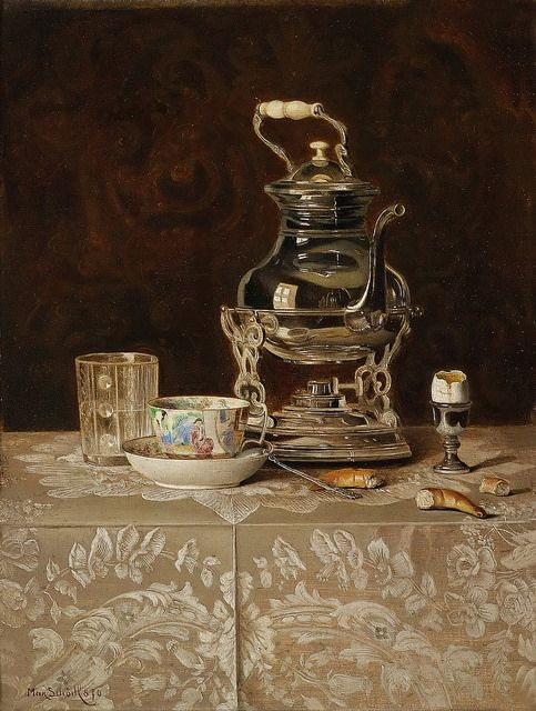 Max Schödl - Still Life with Samovar and Chinese Tea Cup