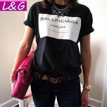 Fashion Women T-shirt Hot Selling Ballinciaga T shirt Letter Shirt Spring Summer Tee Tops For Women Clothing.. http://tinyurl.com/ngzy4ue #fashion #women #tshirt #spring #summer #ballinciaga