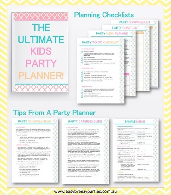 The Ultimate Kids Party Planner - A Freebie!