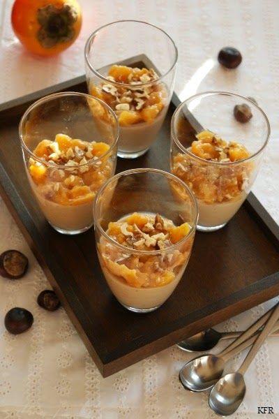 Katrins favoriete recepten: Maronencréme met een coulis van kakivruchten