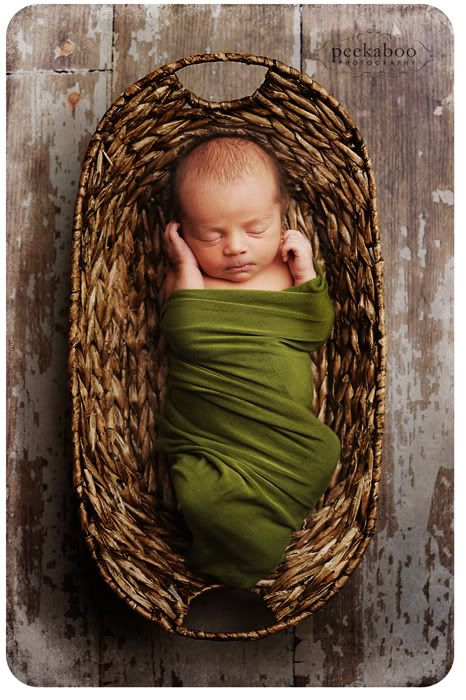 Awesome. Love the unexpected color for a baby photo