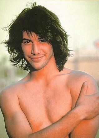 Keanu Reeves. I went to a movie birthday party in 1989 and wrote in my diary how cute Ted was. still is. (acting range? unimportant.)