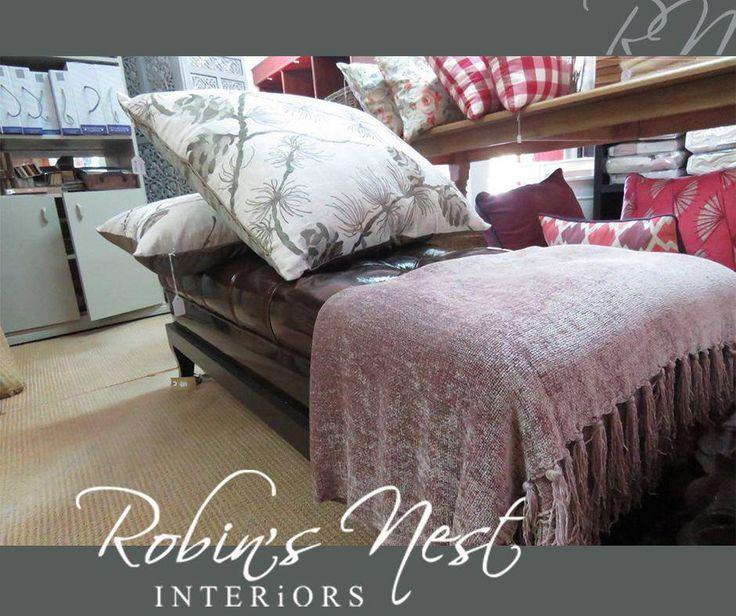 A statement ottoman is such a gorgeous addition to a room, but if you want to take it one step further you can add over-sized scatters with an exquisite print and a throw for a subtle yet modern look. All of these decor items are available at #RobinsNestInteriors