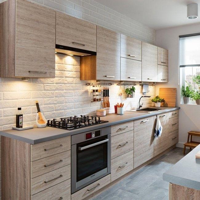 Modulowy Zestaw Mebli Kuchennych Elba Dab Skalny Modulowe Zestawy Meblowe Meble K Transitional Kitchen Design Elegant Kitchen Design Kitchen Decor Modern