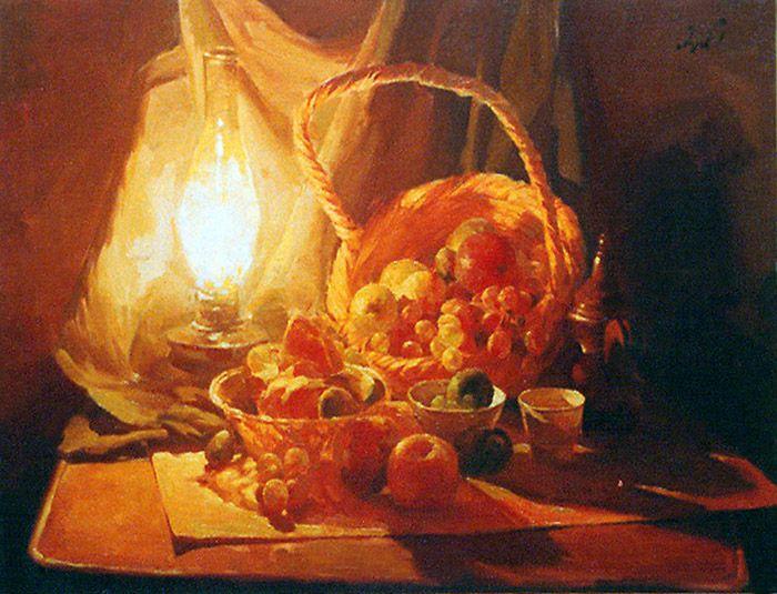 raad al adham - still life - oil - 2001 .