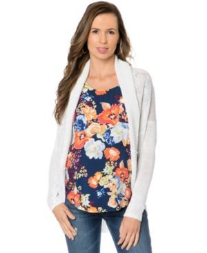 A Pea In The Pod Maternity Open-Front Cardigan - White L