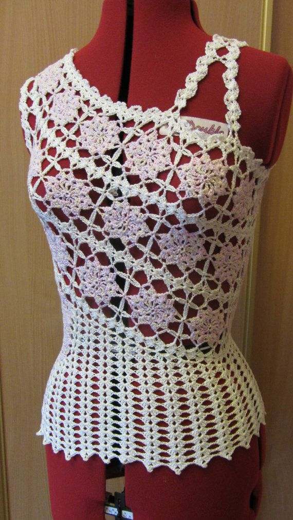 Crochet top Crochet blouse Lace top Womens от KudeSiyaCrochet
