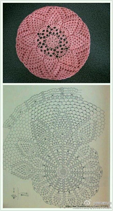Crochet Beanie Pattern Diagram : 226 best images about Crochet Hat and Headband Patterns on ...