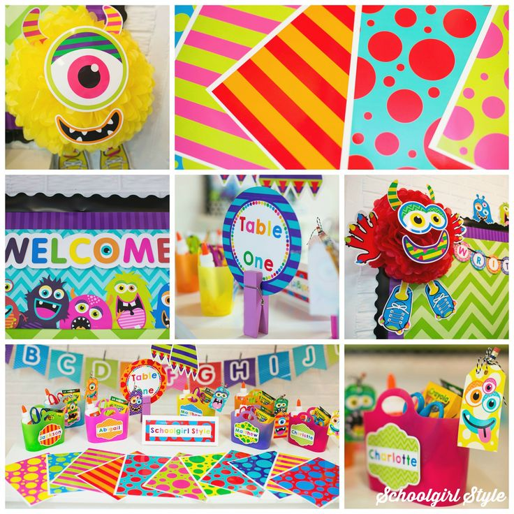 Monster theme by Schoolgirl Style, classroom theme, monster classroom decor, school, bulletin boards www.schoolgirlstyle.com