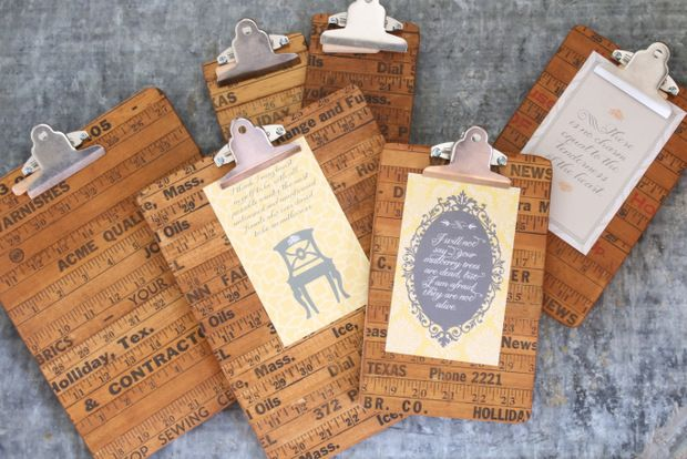 DIY Clipboards made from Repurposed Yard Sticks from Finding Home | Friday Favorites at www.andersonandgrant.com